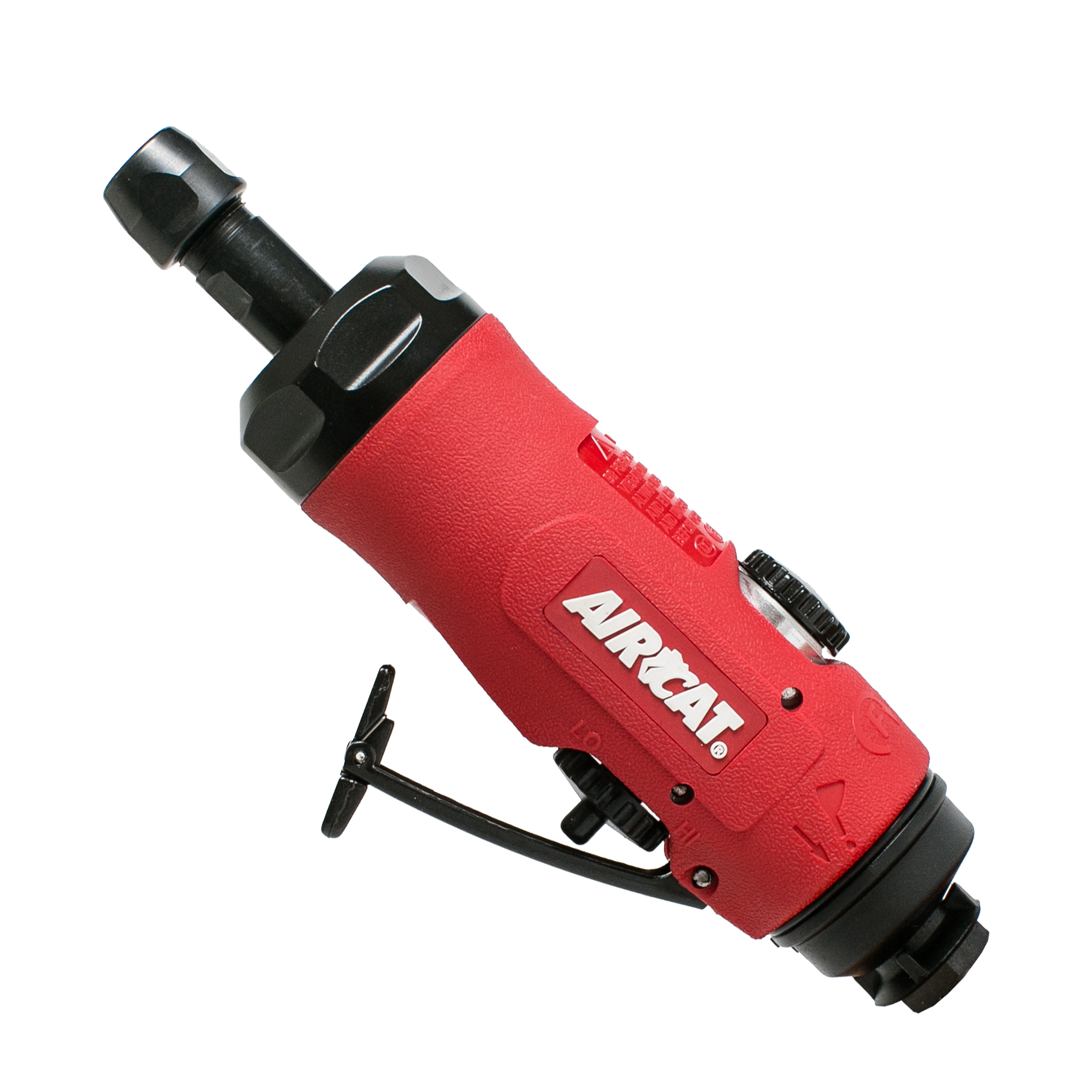 Small Red /& Black AIRCAT 6265 1 hp Composite Angle Die Grinder comes with a 2 /& 3 Back-up Pads